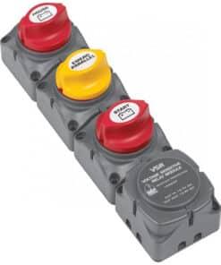 BEP Vertical Battery Switch Cluster w/DVSR - 1 Engine/2 Batteries