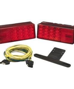 "Wesbar 3"" x 8"" Waterproof LED Over 80"" Trailer Light Kit"